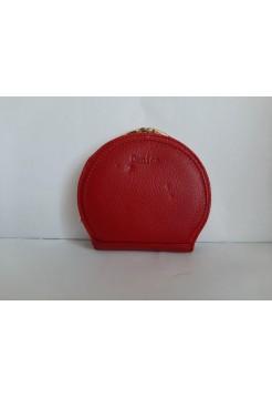 Красный кошелек из кожи