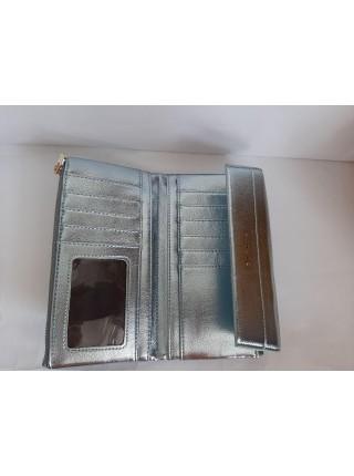 Светло-голубой кошелек из экокожи