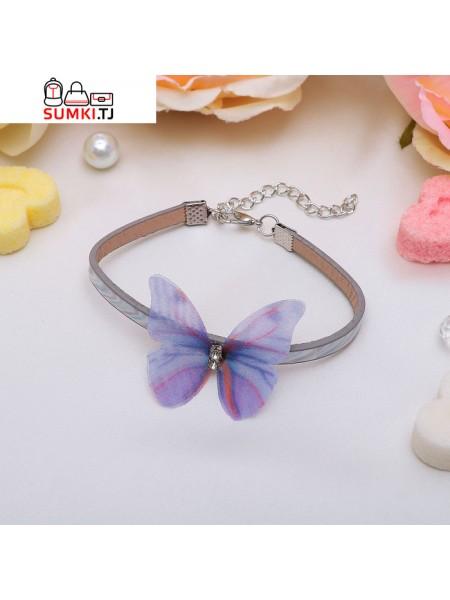 Браслет кожа Butterfly